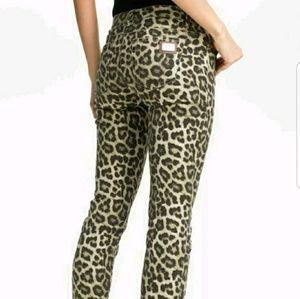 MK Michael Kors Skinny Jeans Leopard Print 8
